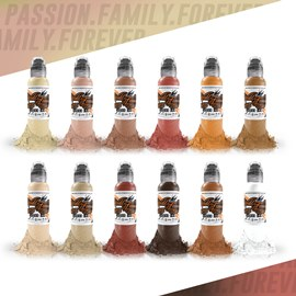 World Famous Ink 12 Color Skintone Set